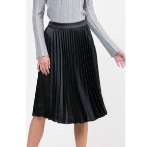 Lucy Paris || Black Satin Skirt